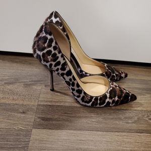 Authentic Jimmy Choo Leopard Print Heels